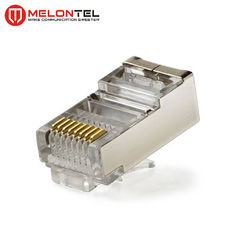 Porcellana MT-5053B RJ45 Modular Plug CAT.5E Cat.6 8P8C STP Network Patch Cord Plug With Gold Plated fabbrica