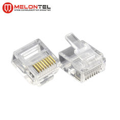 Porcellana MT-5053S RJ45 Modular Plug  Gold Plated RJ45 8P8C Small Plug Cat5E Cat6 Cat7 Modular Connector fabbrica