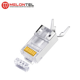 Porcellana MT-5054 RJ45 Modular Plug Metal Shield RJ45 8P8C Cat7 FTP Plug With Gold Plated fabbrica